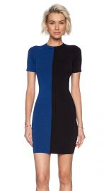 T by Alexander Wang Two Tone Short Sleeve Dress in Black and Viper  REVOLVE at Revolve