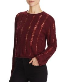 T by Alexander Wang Wool Crop Sweater at Bloomingdales