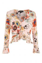 TALL Star Floral Cropped Top at Topshop