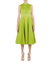 TED BAKER BRIIOLA LACE-TRIMMED MIDI DRESS  at Bloomingdales