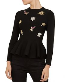 TED BAKER TYNNA EMBELLISHED SWEATER at Bloomingdales