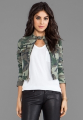 TEXTILE ELIZABETH AND JAMES Wesley Jacket in Olive Camo at Revolve