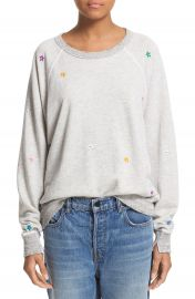 THE GREAT   The College  Embroidered Sweatshirt at Nordstrom