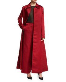 THE ROW Neyton Long Silk Satin Coat at Neiman Marcus
