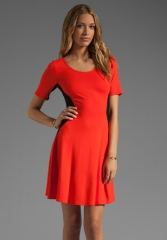THEORY Classical Filopa Dress in New GeraniumBlack at Revolve
