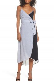 THML Cami Wrap Midi Dress at Nordstrom