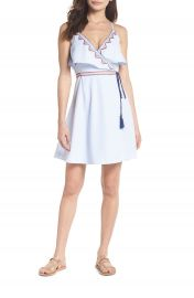 THML Stripe Wrap Dress at Nordstrom