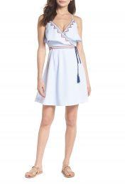 THML Stripe Wrap Dress at Nordstrom