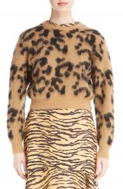 TOGA Leopard Jacquard Knit Wool Blend Sweater at Nordstrom