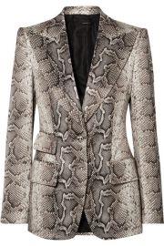 TOM FORD - Snake-print cotton-blend twill blazer at Net A Porter