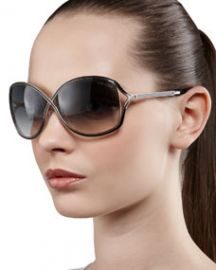 TOM FORD Rickie Round Open-Temple Sunglasses at Neiman Marcus