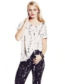 TWO by Vince Camuto Splatter Print Tee at Lord & Taylor