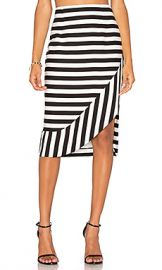 TY-LR The Borsa Stripe Skirt in Black  amp  White Stripe from Revolve com at Revolve