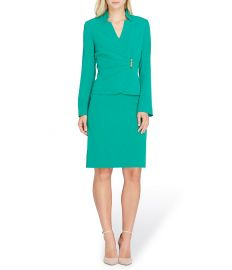 Tahari ASL Star Neck Jacket Skirt Suit at Dillards