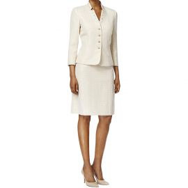 Tahari ASL Womens Petites Jacquard Embellished Skirt Suit at Amazon