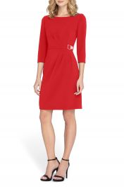 Tahari Embellished Waist Crepe Sheath Dress  Regular   Petite at Nordstrom