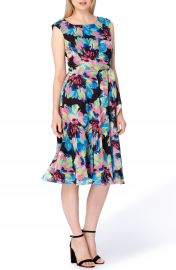 Tahari Floral Fit   Flare Dress at Nordstrom