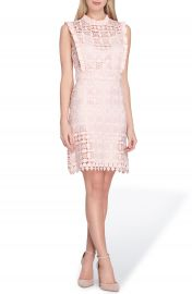 Tahari High Neck Lace Sheath Dress at Nordstrom