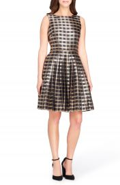 Tahari Jacquard Fit   Flare Dress at Nordstrom