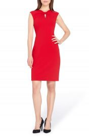 Tahari Knotted Scuba Sheath Dress  Regular   Petite at Nordstrom