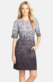 Tahari Ombrand233 Print Scuba Sheath Dress at Nordstrom