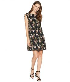 Tahari by ASL Ruffle Trim Chiffon Floral Dress at 6pm