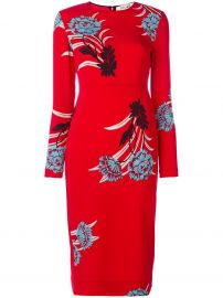 Tailored Long-Sleeve Floral Sheath Dress diane von furstenberg at Bergdorf Goodman