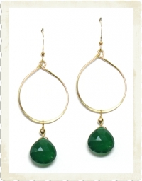 Taina Green Onyx Earrings at Brooklyn Designs