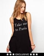 Take Me To Paris tank by Wildfox at Asos