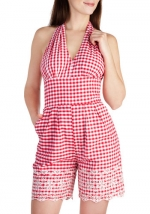 Take a Picnic Romper by Bettie Page at Modcloth