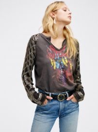 Taking Sides Sequin Tee at Free People