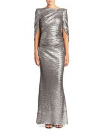 Talbot Runhof - Sequin Cape Gown at Saks Fifth Avenue