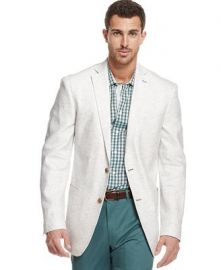 Tallia Multi Dot Linen Blazer at Macys