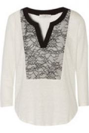 Tana lace-paneled linen top at The Outnet