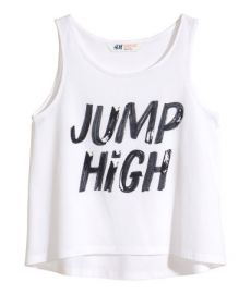 Tank Top with Printed Design at H&M