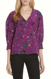 Tanya Taylor Rena Print Silk Top  Regular  amp  Plus Size    Nordstrom at Nordstrom