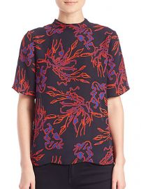 Tanya Taylor - Natasha Printed Silk Blouse at Saks Fifth Avenue