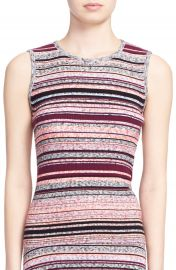 Tanya Taylor  Ash  Stripe Sleeveless Ribbed Top at Nordstrom