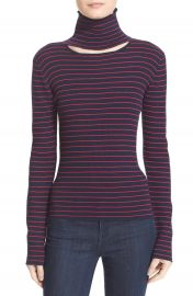 Tanya Taylor  Lia  Cutout Stripe Rib Knit Sweater at Nordstrom