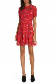 Tanya Taylor Carti Pintuck Detail Silk Chiffon Dress  Regular  amp  Plus Size at Nordstrom