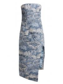 Tapestry-jacquard bustier dress at Matches