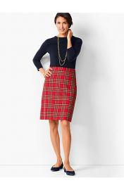 Tartan Plaid A-Line Skirt by Talbots at Talbots