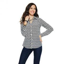 Tassel Print Silk Shirt at C Wonder