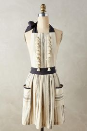 Tasseled Ambra Apron at Anthropologie