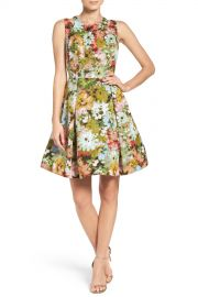 Taylor   Vintage Floral Fit  amp  Flare Dress   Nordstrom Rack at Nordstrom Rack