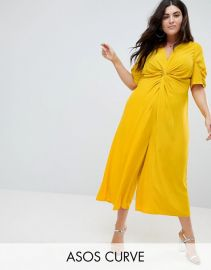 Tea Jumpsuit with Knot Front at Asos