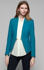 Teal blazer like Pennys at Theory
