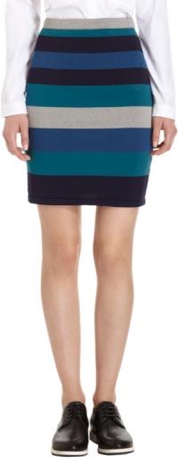 Teal striped skirt by Jonathan Simkhai at Barneys