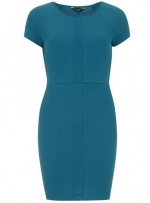 Teal waffle pencil dress at Dorothy Perkins