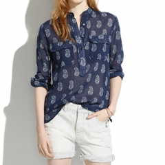 Teardrop paisley popover at Madewell